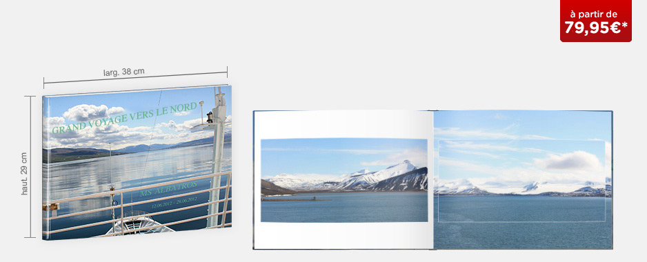 Livre photo XXL Panorama : papier photo mat