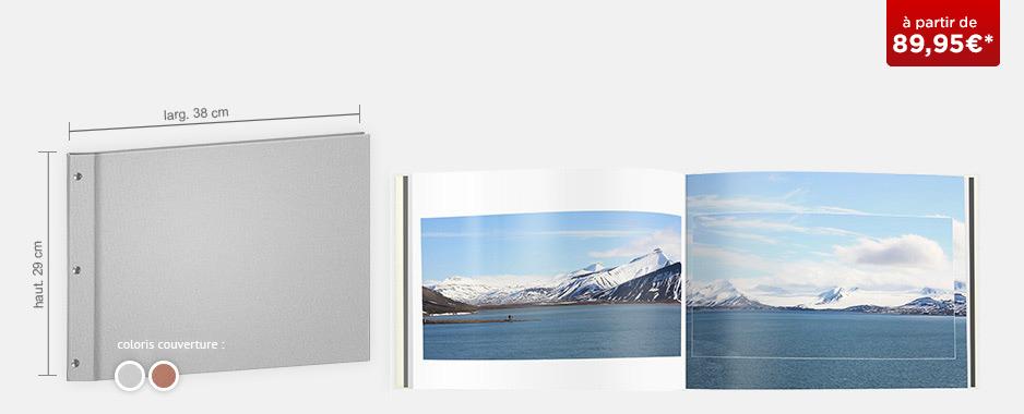 Livre photo XXL Panorama : couverture toile Premium