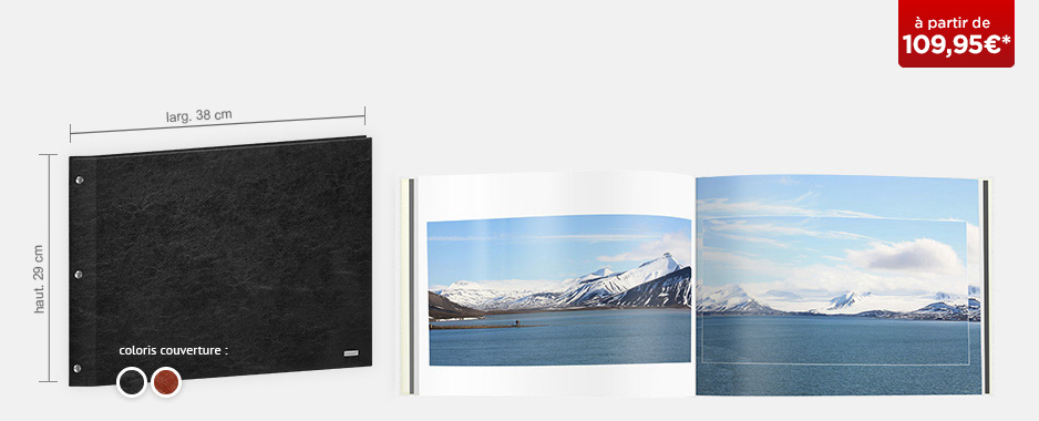 Livre photo XXL Panorama : couverture cuir