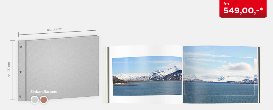 CEWE FOTOBOK XXL panorama - Luksuslerretsinnbinding