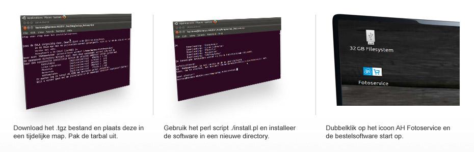Downloadstappen bij Linux systemen