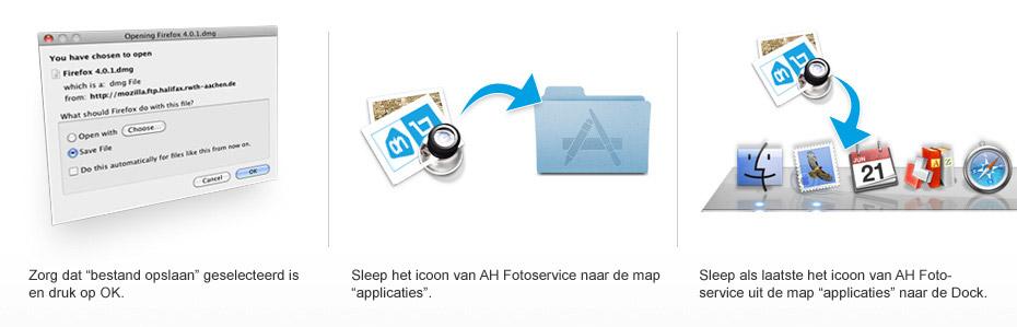 Downloadstappen bij Mac OSX systemen