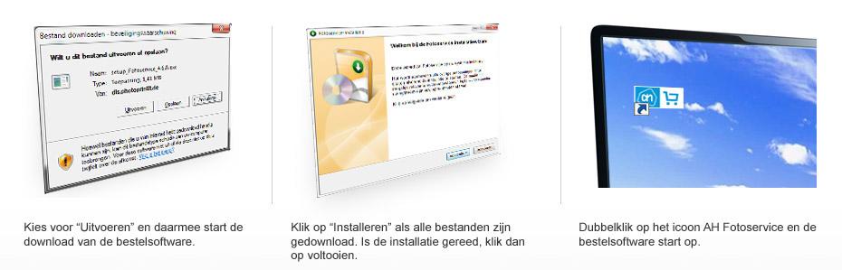 Downloadstappen bij Windows systemen