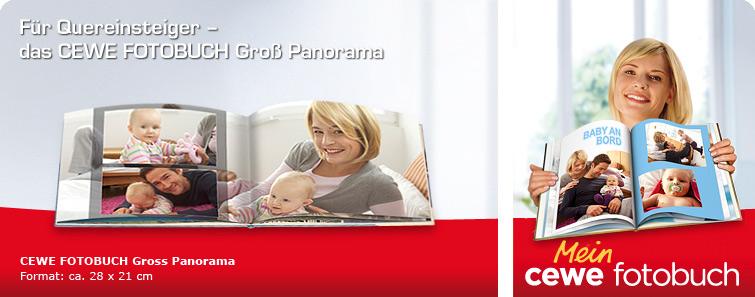 CEWE FOTOBUCH Gross Panorama mit Babymotiv