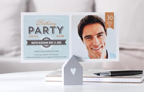 Einladungskarten Zum 30 Geburtstag Selbst Gestalten: Einladungskarten 30. Geburtstag Selbst Gestalten