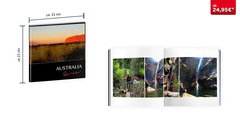 CEWE FOTOBUCH Quadratisch: Hardcover-Einband
