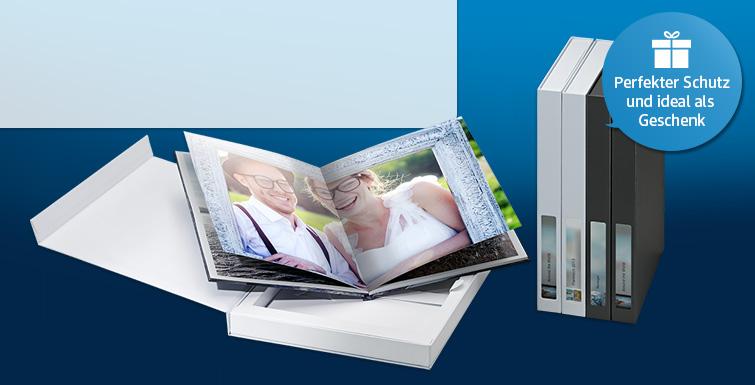 Für Ihr Paradies-Fotobuch gibt es eine Archiv- und Geschenkverpackung in weiß oder anthrazit