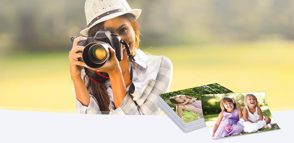 Digitalfotos auf Fotopapier