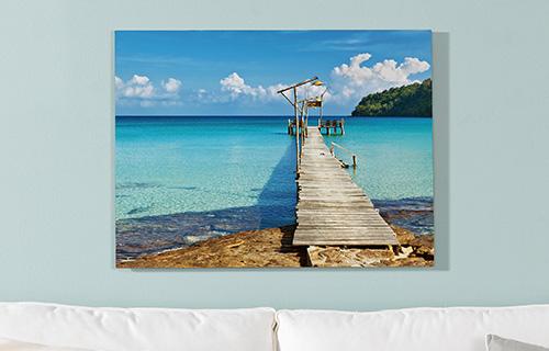 Wandbilder für das Wohnzimmer mit eigenem Foto | dm Foto-Paradies