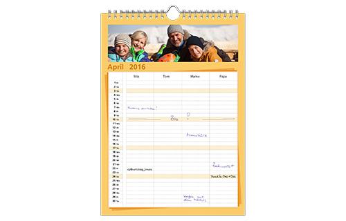 Familienkalender A4 | Fotokalender | Foto-Paradies