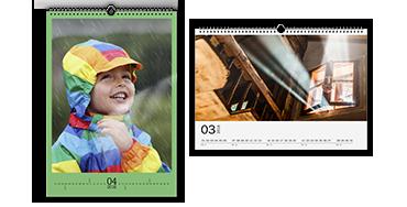 Wandkalender A3 auf Fotopapier