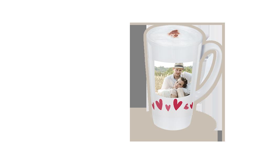 Latte Becher