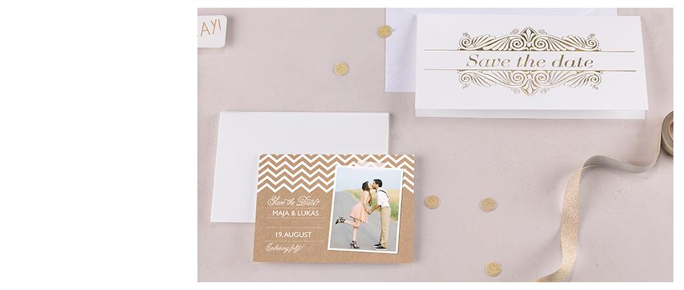 Stilvolle Hochzeitsankündigung