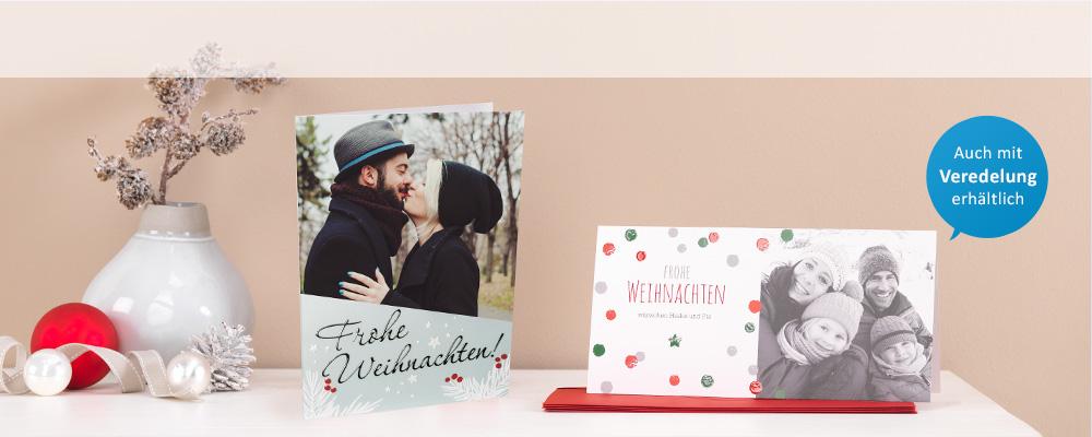 weihnachtskarten mit foto einfach online gestalten dm. Black Bedroom Furniture Sets. Home Design Ideas