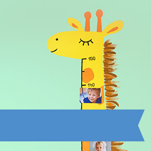 Giraffen-Messlatte