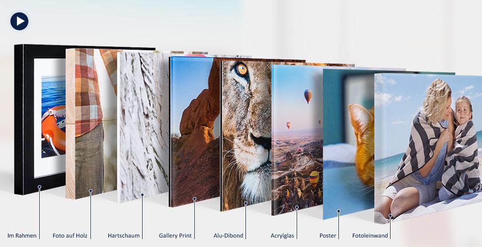 Wandbilder poster mit eigenen fotos erstellen dm foto paradies - Fotoleinwand erstellen collage ...