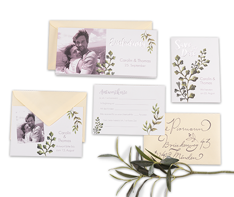Hochzeitkarten im 10er Set