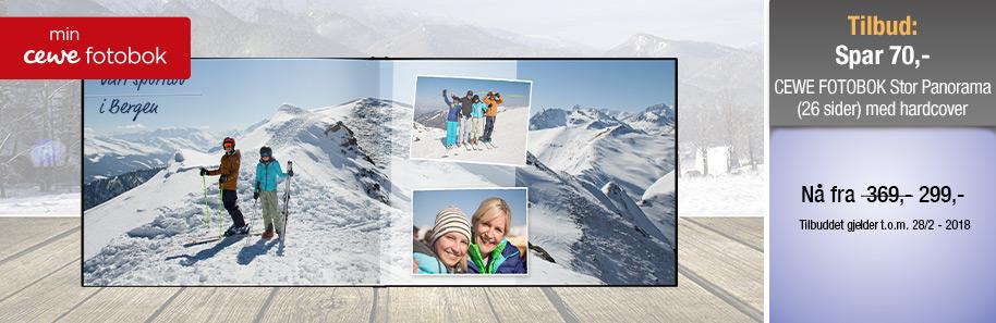CEWE FOTOBOK Stor Panorama med hardcover