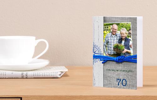 Individuelle Einladungskarten zum 70. Geburtstag einfach selber machen