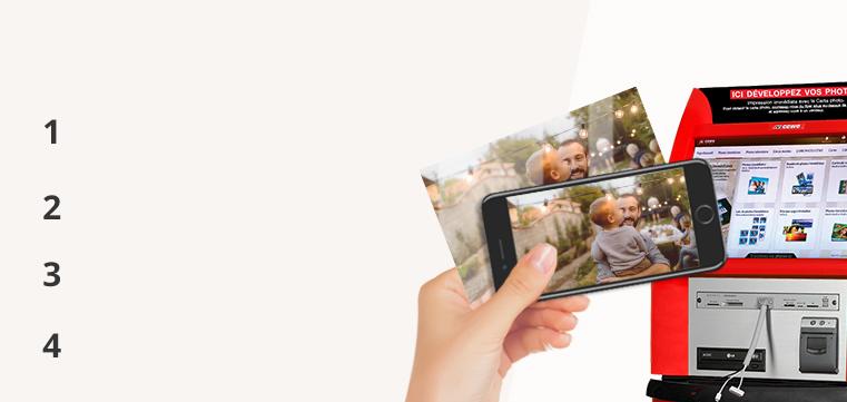 Tirages photos et impression immédiates sur bornes