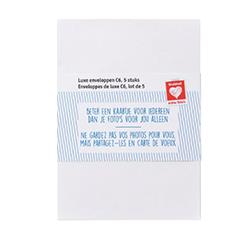 Luxe C6 enveloppen wit