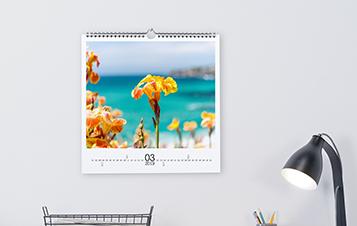 Wandkalender vierkant - fotopapier