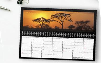 Bureaukalender liggend