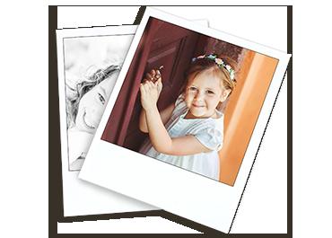Maak een creatieve collage met deze polaroid style prints